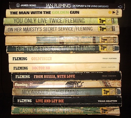 The James Bond Books - a variety of paperback editions